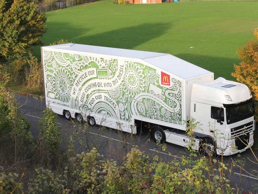 Lyon : un camion McDonald's roule grâce aux déchets des restaurants