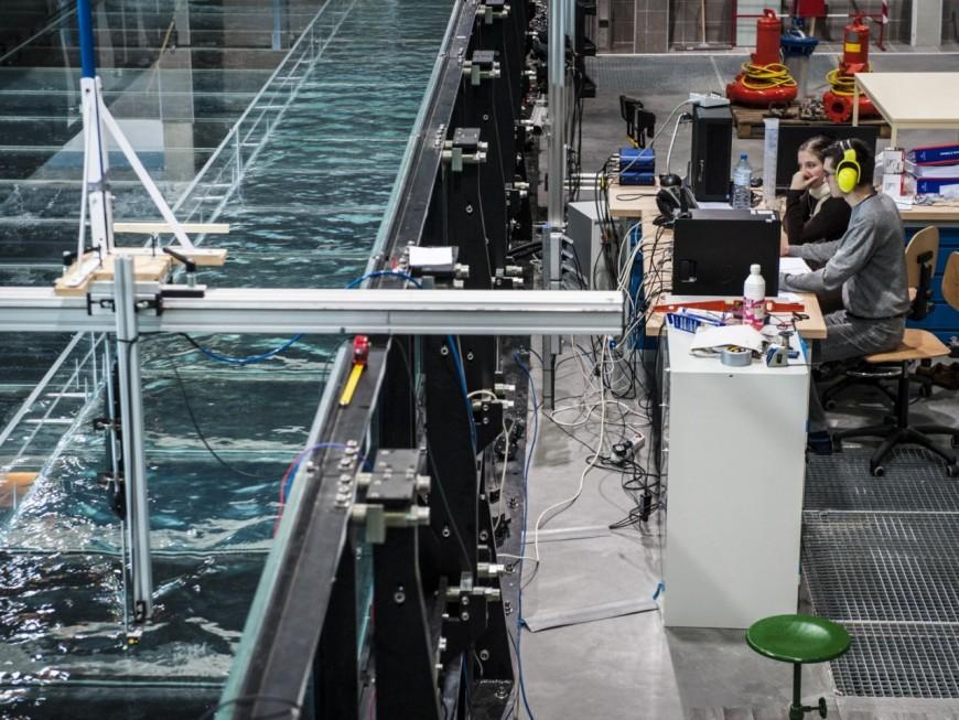 Unique en Europe, un simulateur de crues installé à Villeurbanne