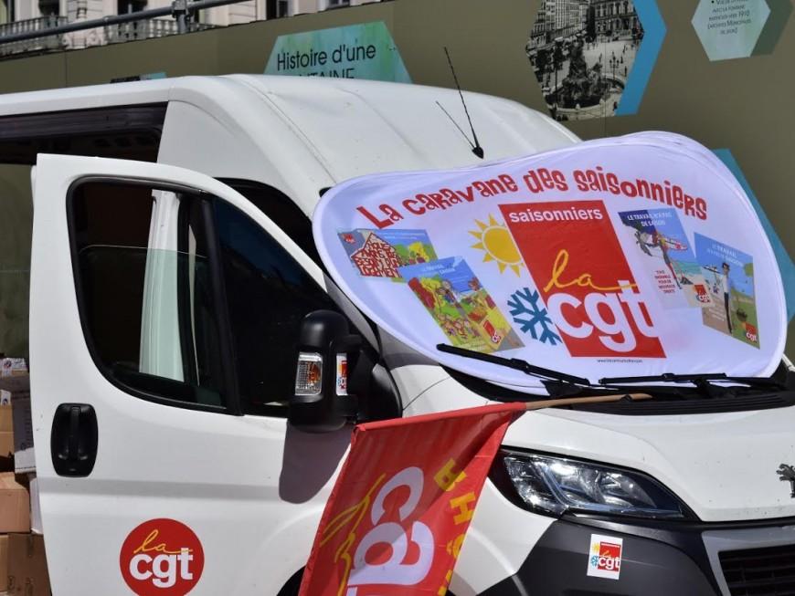 """La """"Caravane CGT des saisonniers"""" fait étape à Lyon"""