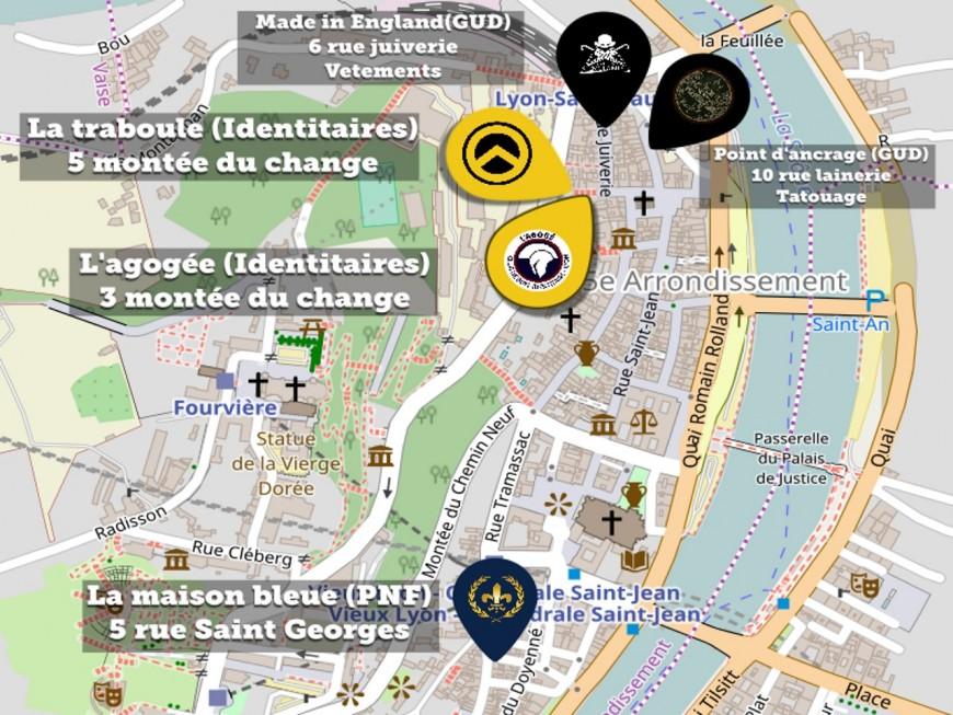 Une carte de l'implantation de l'extrême-droite à Lyon