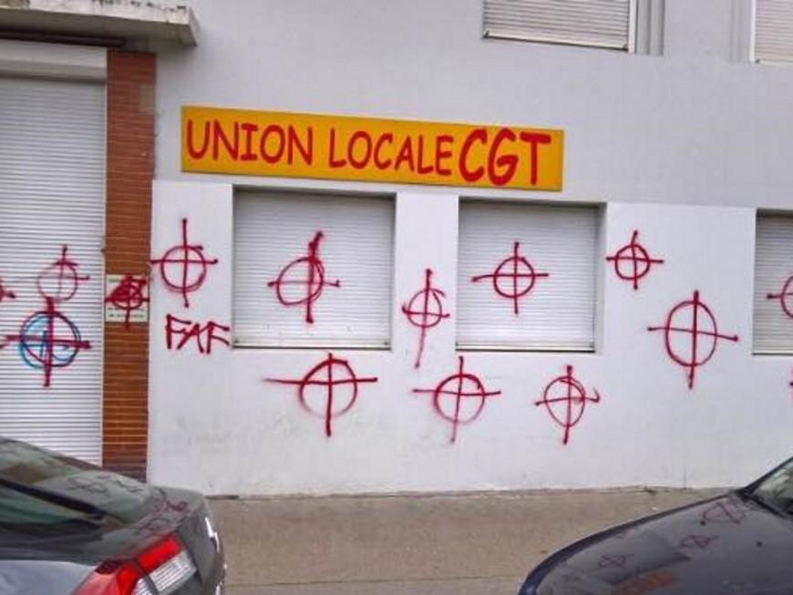 Lyon : un local de la CGT repeint par l'extrême droite