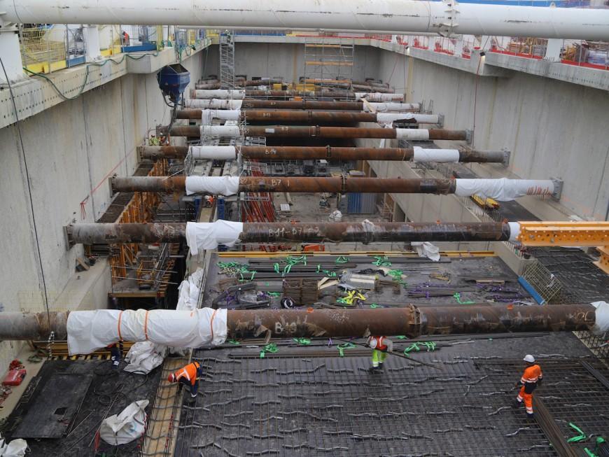 Prolongement du métro B: le tunnelier arrive à la station Saint-Genis-Laval-Hôpitaux Sud