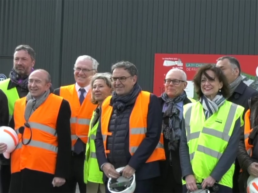 Inauguration de la première chaufferie urbaine de France