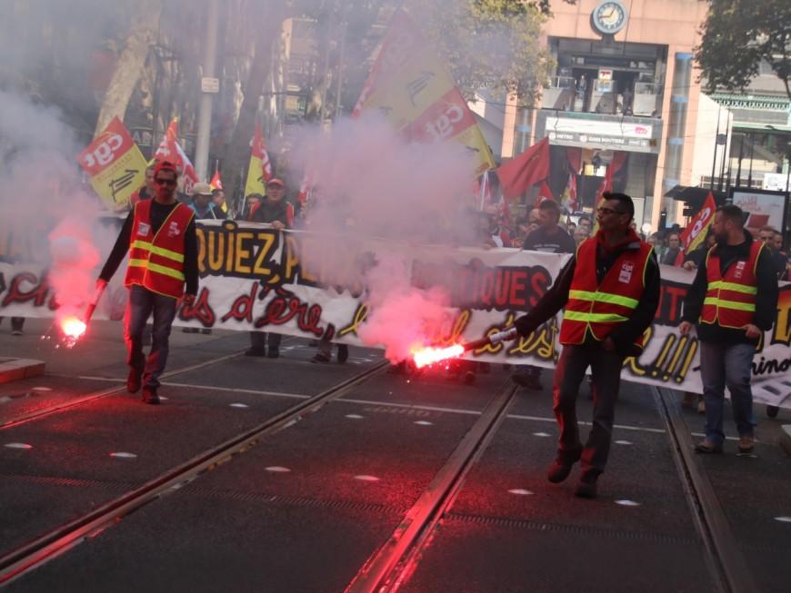 250 cheminots manifestent à Lyon