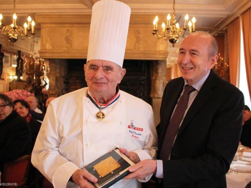 La médaille d'or de la Ville de Lyon remise à Paul Bocuse