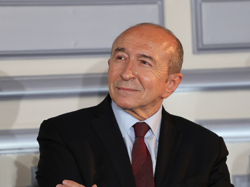 """Gérard Collomb dit être """"pleinement ministre de l'Intérieur"""""""