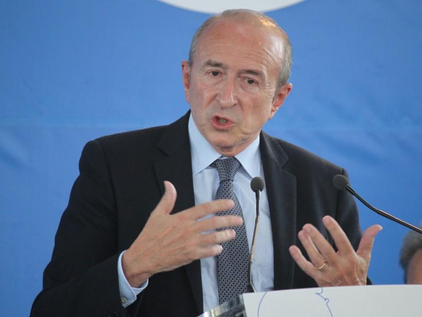 Gérard Collomb de passage à l'Ecole Nationale Supérieure de la Police à Saint-Cyr-Au-Mont-d'Or