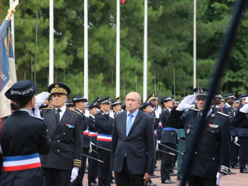 Gérard Collomb présent à la cérémonie de sortie des policiers de Saint-Cyr
