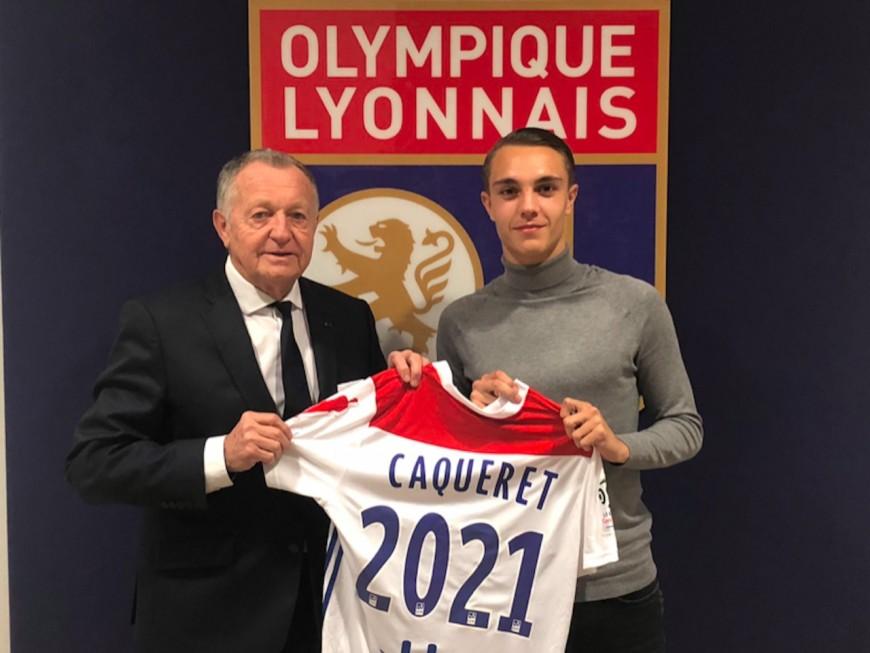 OL : Maxence Caqueret signe son premier contrat professionnel
