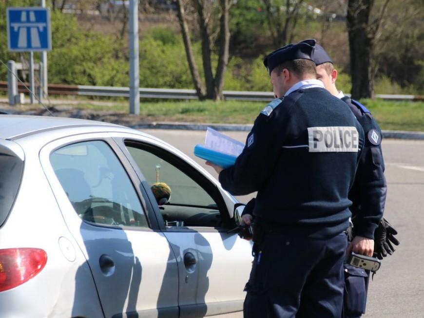 Contrôles routiers renforcés: 60 personnes encore verbalisées ce dimanche dans le Rhône