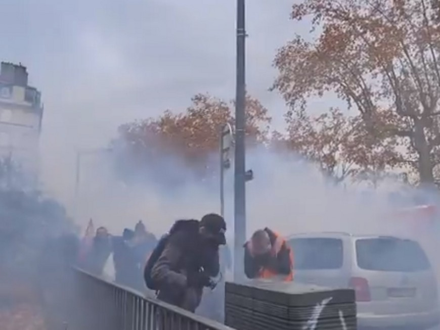 """Lyon : 2000 manifestants pour la """"Marche des libertés"""", sept personnes interpellées"""