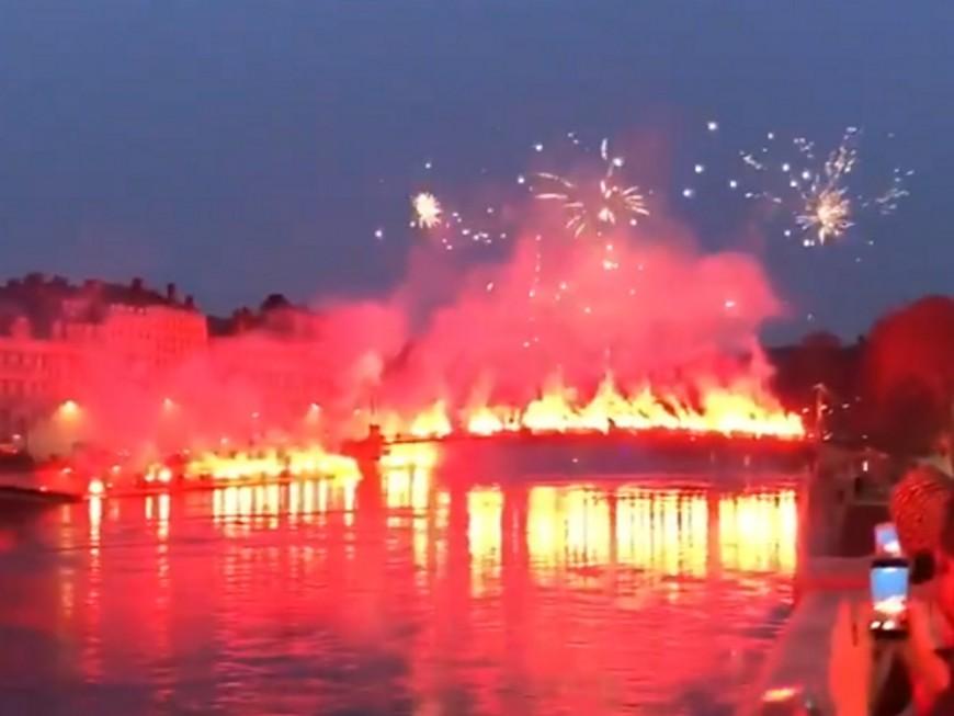 Lyon : un nouveau feu d'artifice surprise tiré en Presqu'île