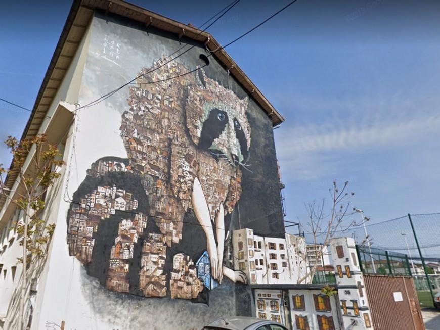 Lyon: une pétition pour conserver la fresque du raton laveur de Montchat