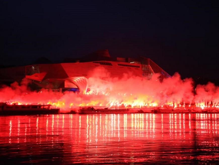 Lyon : le ciel recouvert de rouge ce samedi soir pour fêter le centenaire du Club Africain de Tunis