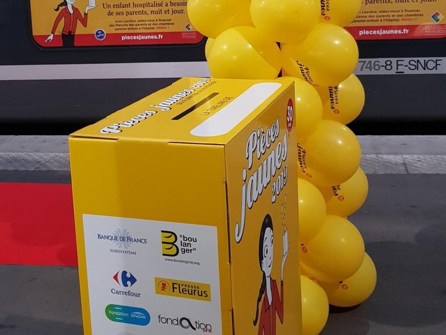 Le train des pièces jaunes passera ce samedi à la gare de Perrache