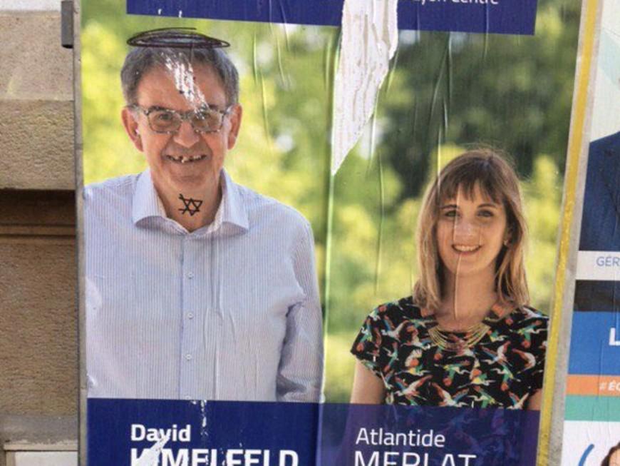 Métropolitaines : des tags antisémites sur les affiches de David Kimelfeld à Lyon