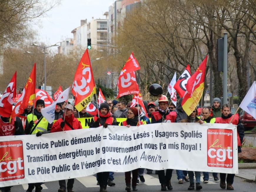 Plus de 1000 agents EDF manifestent à Lyon