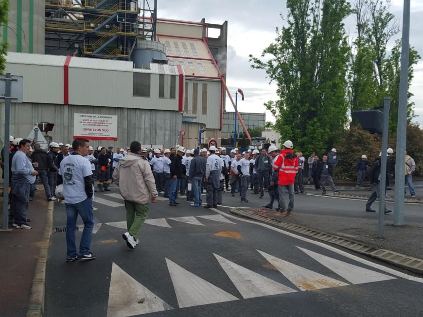 Les égoutiers en grève à Lyon