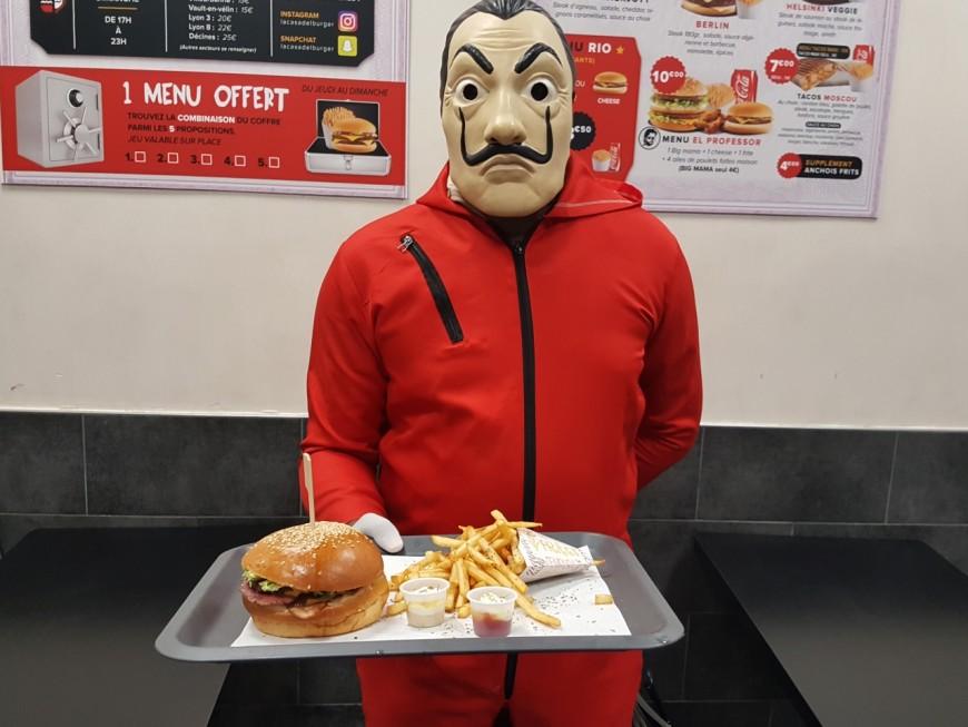 A Villeurbanne, un fast-food détourne l'univers de La Casa De Papel
