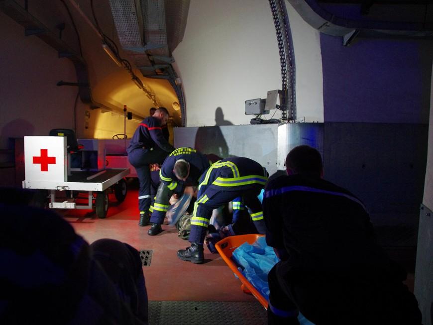 Impressionnant exercice de sécurité civile dans la base aérienne 942 près de Lyon