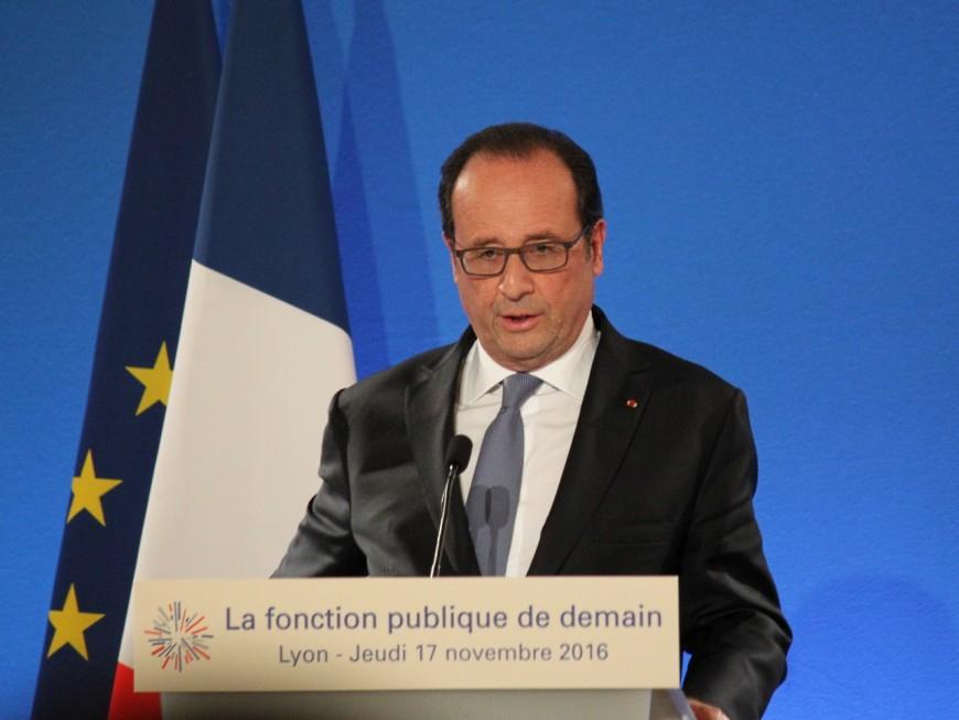 A Lyon, François Hollande affirme son soutien à la fonction publique