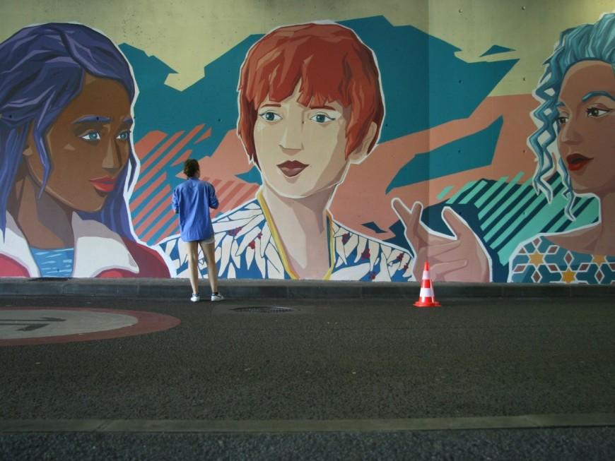 Lyon : une nouvelle fresque murale mettant les femmes à l'honneur
