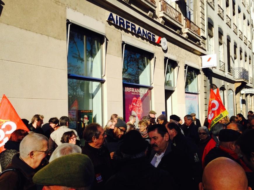 Lyon : rassemblement de la CGT pour soutenir les salariés d'Air France