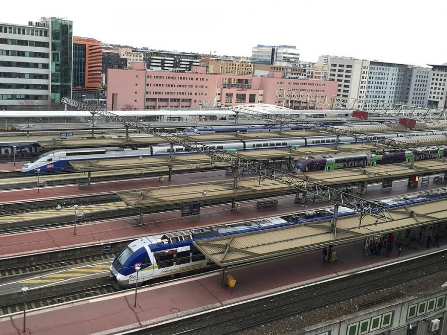 Création d'une nouvelle voie à  la gare de Lyon Part-Dieu