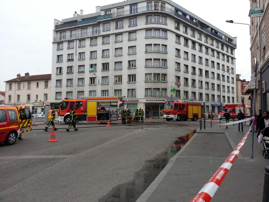 Une fuite de gaz ce mercredi matin sur le cours Emile Zola à Villeurbanne (Màj)