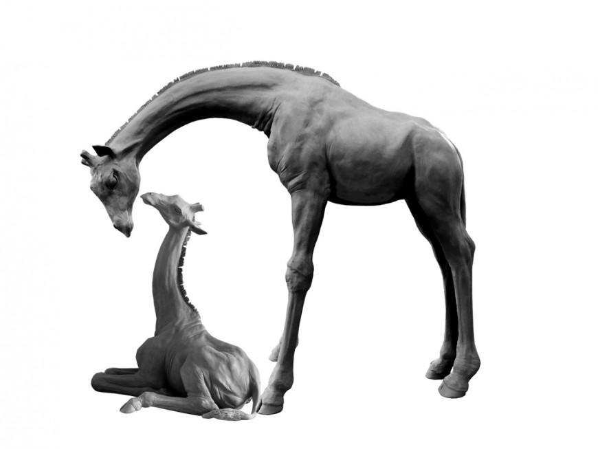 """Sculptures de girafes à la Tête d'Or : nouvel appel aux dons pour financer """"la maman girafe"""""""