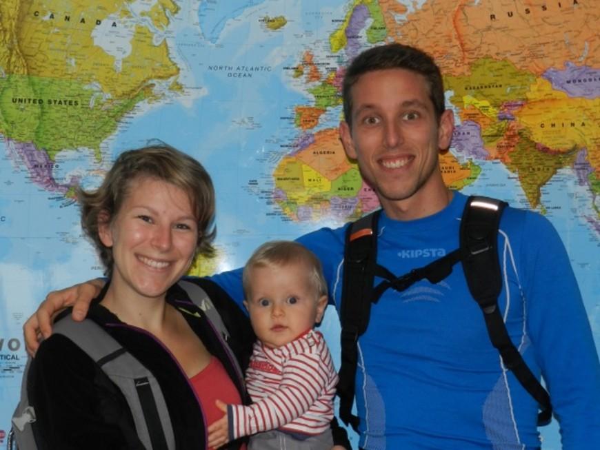 Lyon : ils partent faire un tour du monde de trois ans avec leur bébé de 10 mois !