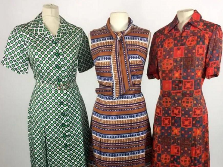 700 robes des 60s et 70s mises aux enchères à Lyon