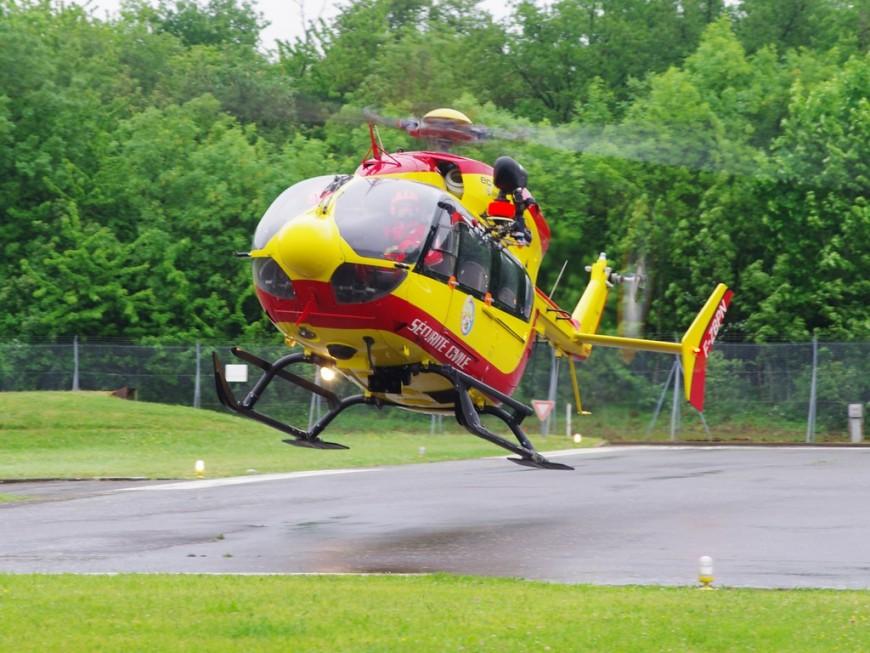 Un accident près de l'aéroport St Exupéry, un hélicoptère mobilisé