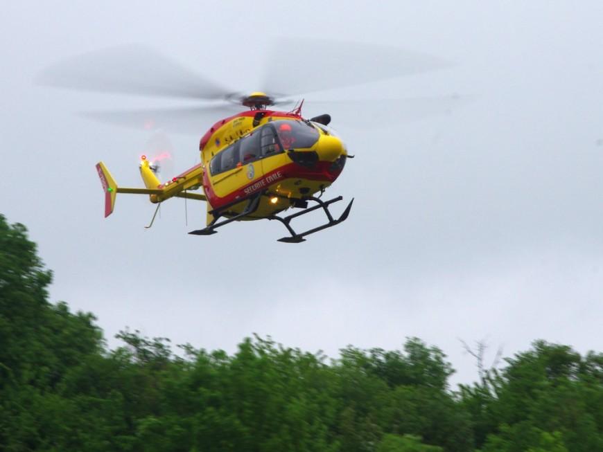 Une jeune femme de 25 ans héliportée à Lyon après un accident de la route