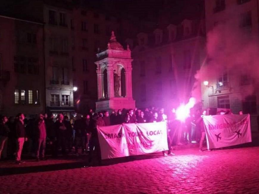 Lyon: des identitaires manifestent après l'attentat de Nice