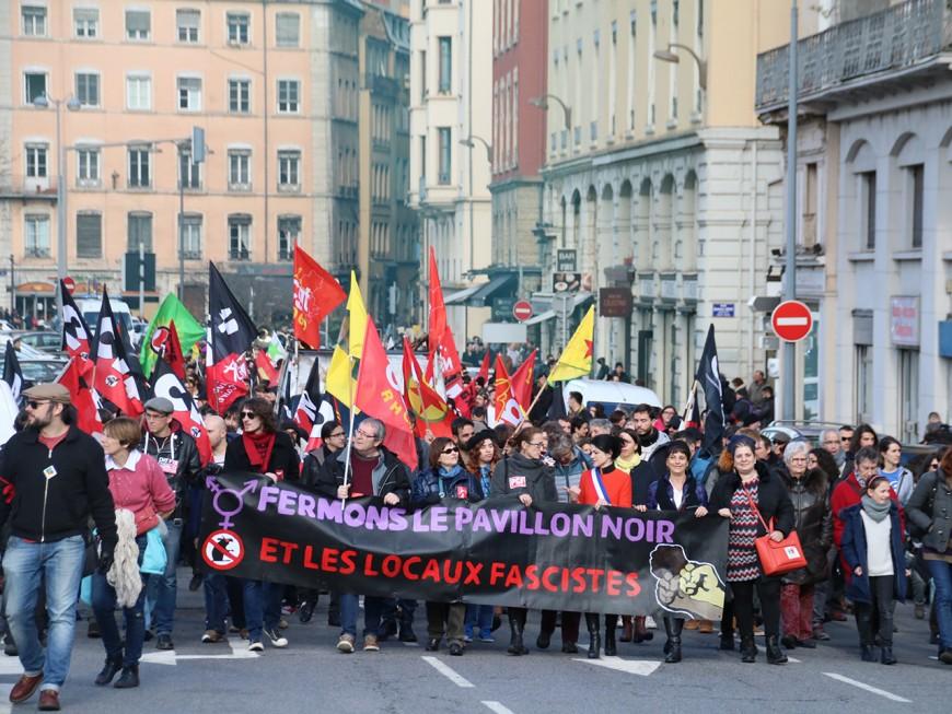 Lyon : 400 personnes dans la rue pour la manifestation antifasciste