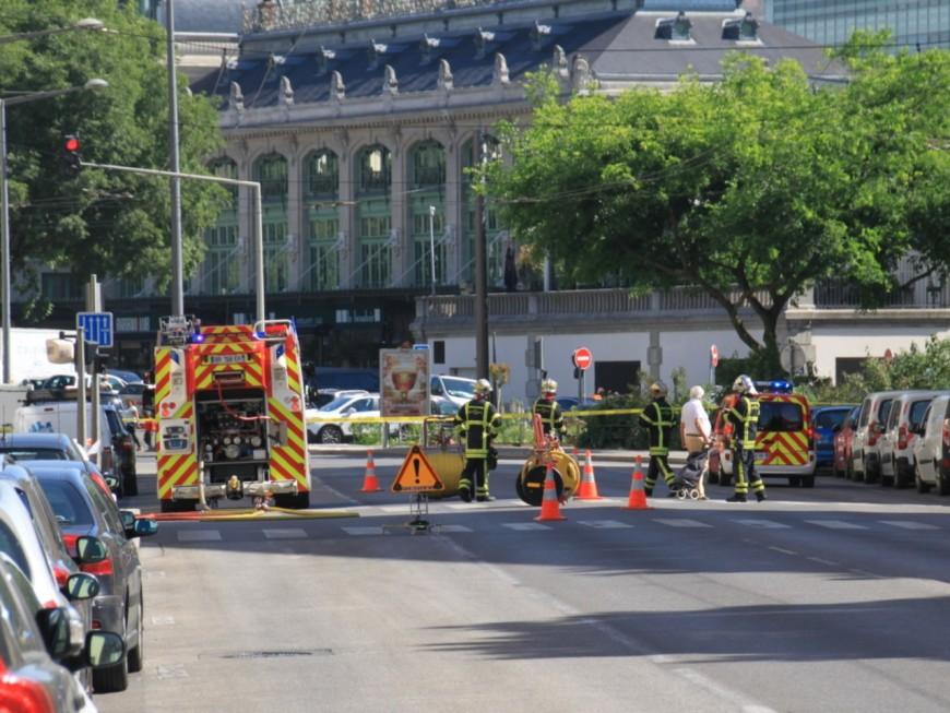 Lyon : fuite de gaz boulevard Jules Favre