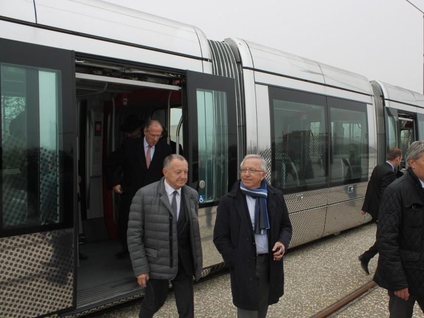 Le tramway à destination du Grand Stade de l'OL a été inauguré