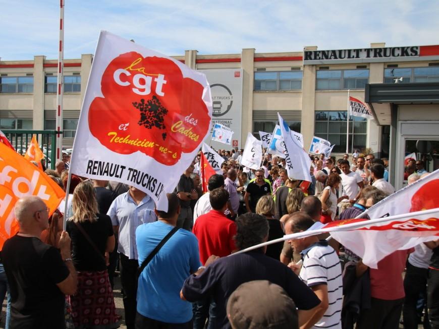Renault Trucks : 450 personnes manifestent à Vénissieux contre le plan social