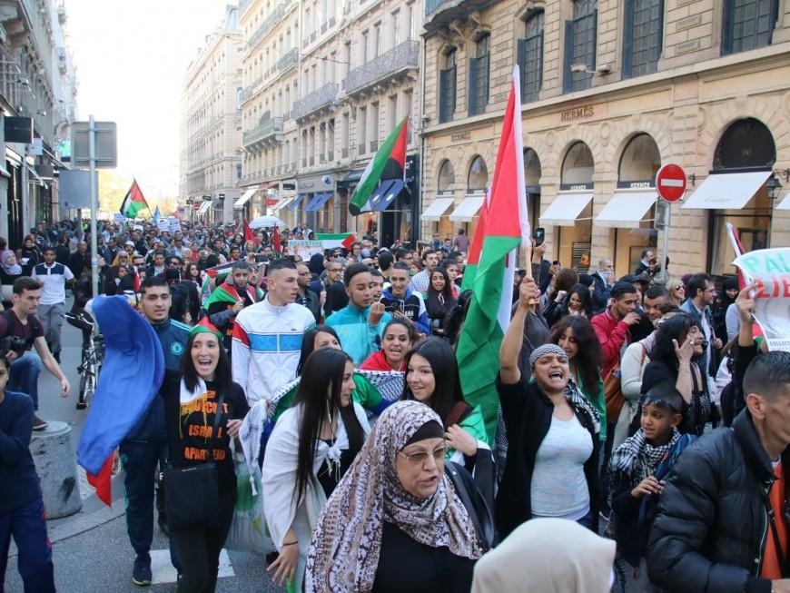 Lyon : 300 personnes ont soutenu la Palestine ce samedi lors d'une manifestation