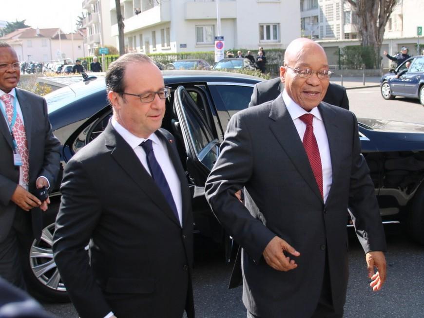 Santé internationale : Hollande et Zuma sont arrivés à Lyon