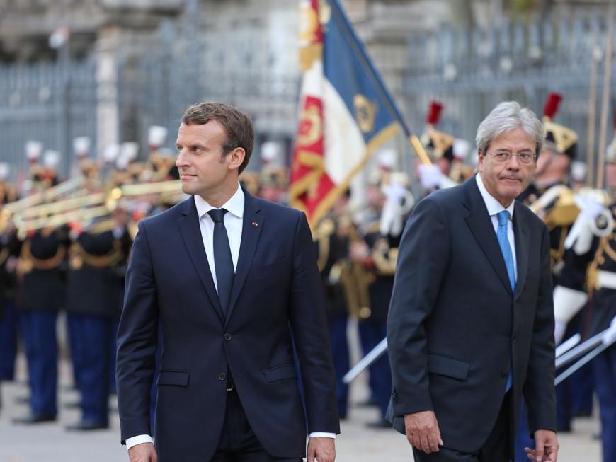 Emmanuel Macron à Lyon pour le 34e sommet franco-italien