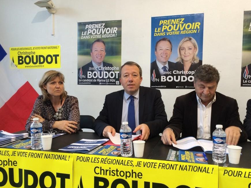"""Régionales : """"Notre formation politique est en tête"""" selon Boudot (FN)"""