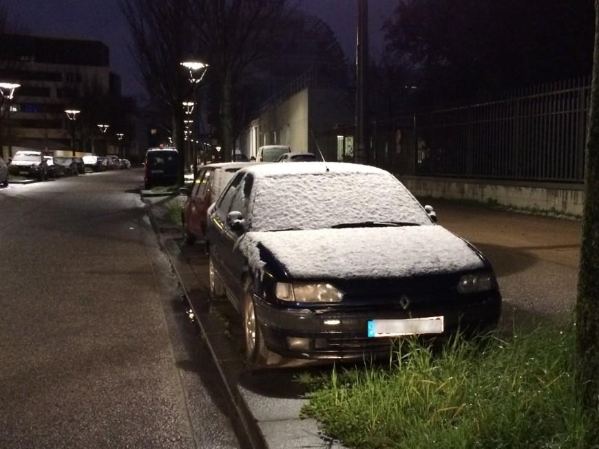 Une timide neige s'est invitée sur Lyon et son agglomération