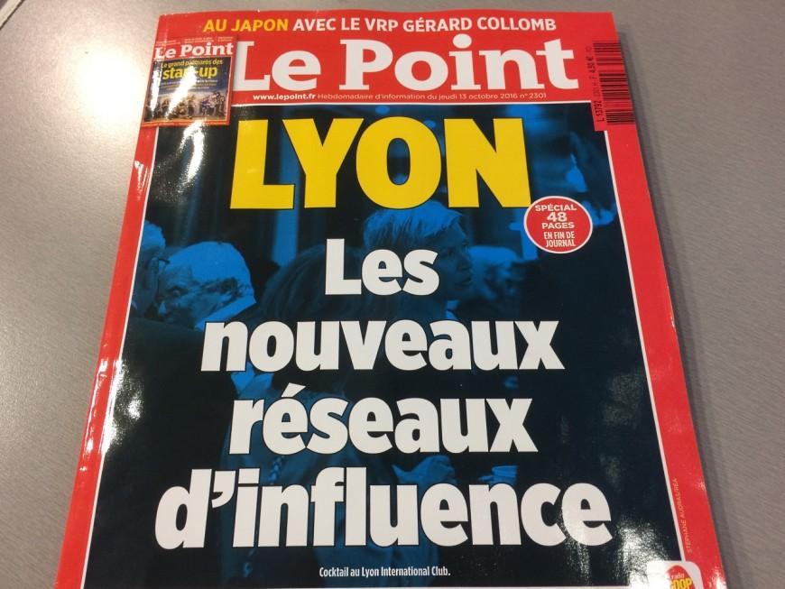 """Le Point consacre sa Une aux """"nouveaux réseaux d'influences"""" de Lyon"""