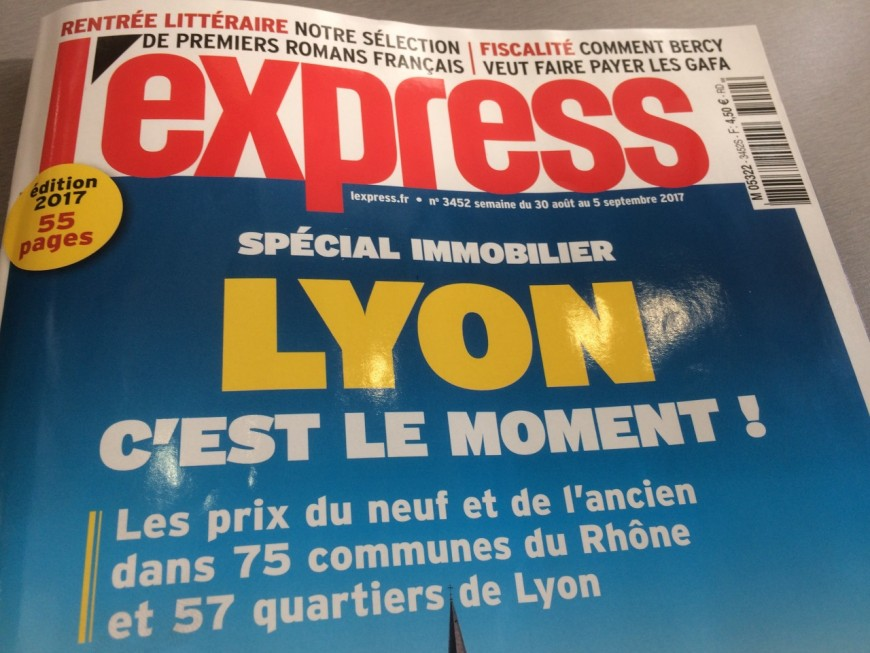 """Immobilier, """"c'est le moment"""" : numéro spécial Lyon pour l'Express"""