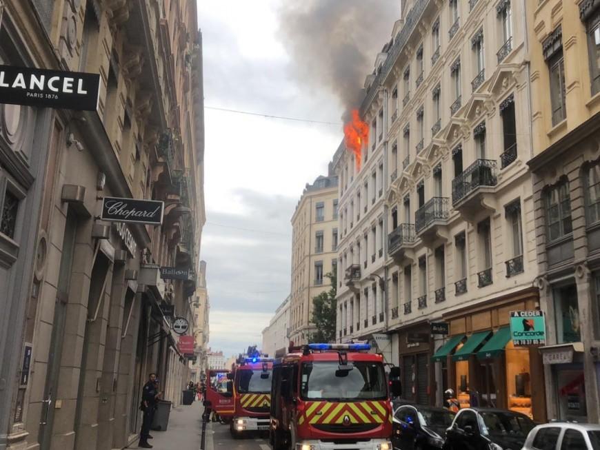 Lyon : un incendie en Presqu'île ce mercredi matin