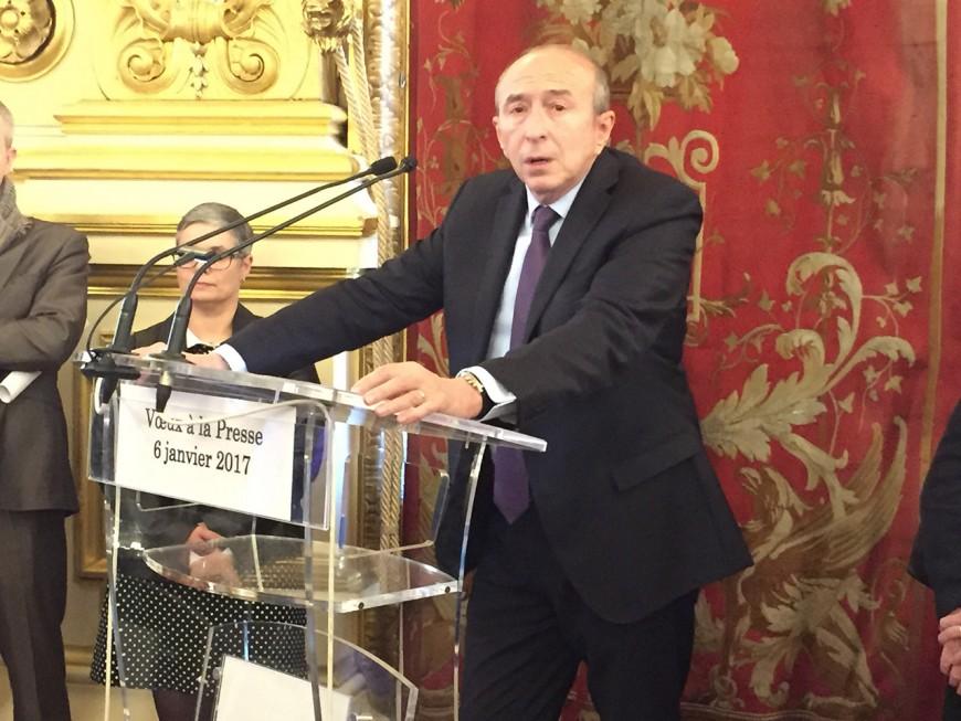 Des voeux à la presse remplis d'optimisme pour Gérard Collomb