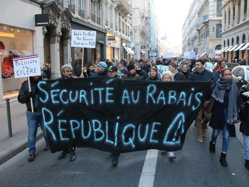 Lyon : le retour des policiers en colère dans la rue