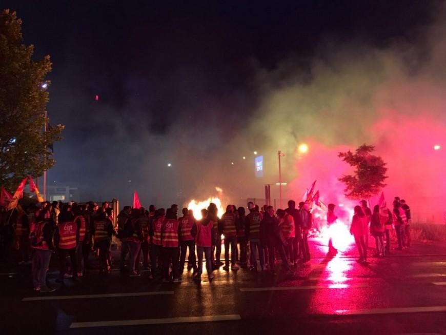Saint-Priest : les cheminots bloquent une plateforme Geodis pour encourager le fret